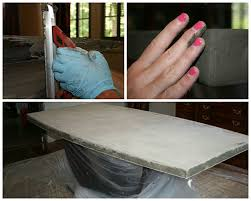diy concrete table top diy concrete table concrete table top chic and durable sitez co