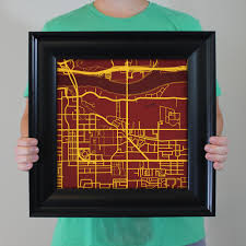 Arizona State University Campus Map by Arizona State University Campus Map Art City Prints
