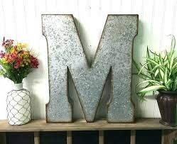 metal wall letters home decor metal letters home decor large prepossessing wall t galvanized
