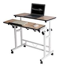 rolling stand up desk adjustable height mobile stand up desk computer workstation rolling