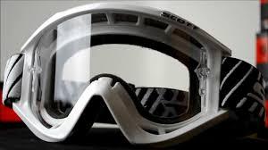 scott motocross helmet scott mx recoil xi pro goggles white youtube