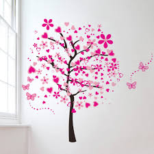 large pink tree wall stickers decals bonito