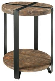 round industrial side table wood end tables moutard co