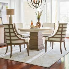 universal dining room furniture universal synchronicity 5 piece round table and chair set