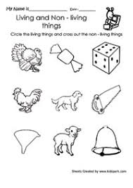living and nonliving things worksheets for first grade google