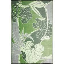 Outdoor Rv Rugs B B Begonia Blossom Green Grey 8 Ft X 20 Ft Designer Outdoor Rv