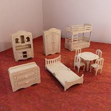 De Plan Barbie Doll Furniture by Big Plywood Doll House V1 Dolls Furniture Pack Vector Model F