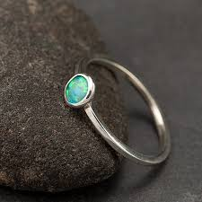 small stone rings images Opal ring sterling silver ring small stone ring thin jpg