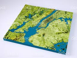 Topographic Map Of Usa by New York City 3d Model Topographic Map Color Stock Photo 538489852