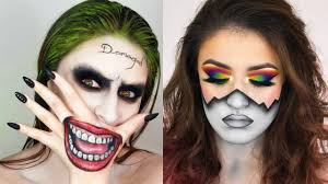 easy face makeup for halloween top 15 easy halloween makeup tutorials compilation 2017 youtube