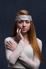 bridal headpiece boho bridal headband art deco wedding veil