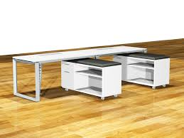 diamond desk suite with glass divider screen features mobile