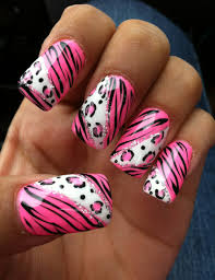 pink leopard print nails pictures photos and images for