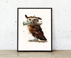 printable owl art owl post printable watercolor owl art hogwarts harry