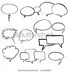 think bubble talk bubble collection sketch stock vector 116300260