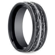 mens wedding bands cobalt hammered s wedding ring in blackened cobalt