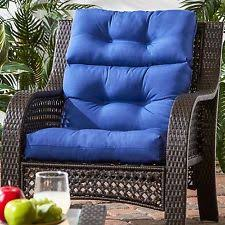 Patio Chair Cushions Set Of 4 Patio Chair Cushion Set Of 4 Wicker Furniture Outdoor High Back