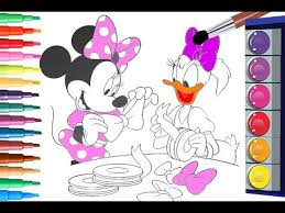 coloring pages of minnie mouse and daisy duck painting minnie mouse and daisy duck coloring pages coloring