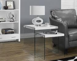 amazon com monarch specialties glossy white tempered glass 2