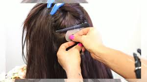 keratin bond hair extensions keratin bond hair extensions application before after