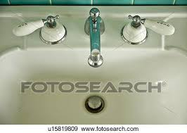 Vintage Sink Faucet Stock Photograph Of Detail Vintage Sink With And Cold Faucet