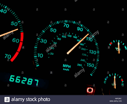 car dashboard car dashboard display at night stock photo royalty free image