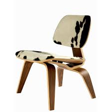 eames lcw plywood lounge chair replica in cowhide modern