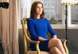 the good wife hairstyle wallpaper model long hair sitting dress clothing julianna