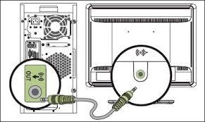 hp desktop pcs connecting speakers or headphones windows 7