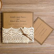 wedding invitations lace simple but lace pocket wedding invitations ewls012 as low