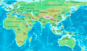 Ancient Africa Map by Eastern Hemisphere In 1300 Bc Illustration Ancient History