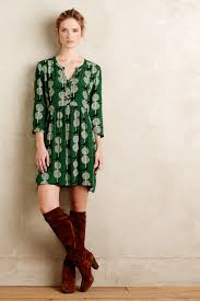 maeve clothing maeve devery shirtdress in green lyst