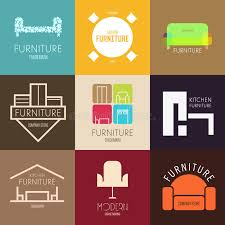 kitchen furniture company logo badge or label inspiration with furniture for shops
