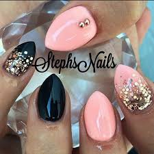 Baby Nail Art Design 50 Beautiful Pink And Black Nail Designs 2017