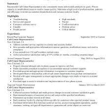 Call Center Sample Resume Sample Resume For Call Center Representative Download Customer