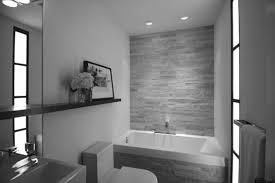 Modern Black And White Bathroom by Bathroom Small Bathroom White Rectangle Modern Ceramic Bathtub