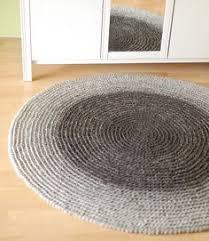 Rug Wool Yarn Red Round Rug Wool Carpet Red Carpet Crochet Rug Large Bedside