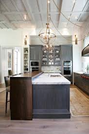 kitchen design with mid century style charcoal gray kitchen