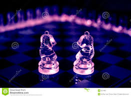 Glass Chess Boards Glass Chess Knights Stock Photography Image 221402