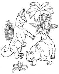 rex dicynodont dinosaur coloring free printable