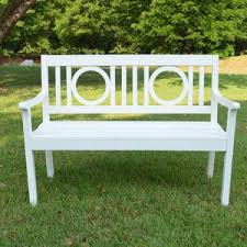 white outdoor benches you u0027ll love wayfair