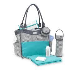Carter S Convertible Crib by Carter U0027s 3 Piece Convertible Tote Diaper Bag Set Grey Woven
