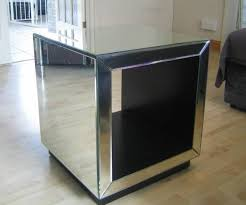 cube mirror side table cube side table for sale