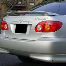 2001 toyota corolla spoiler toyota corolla 2 post painted rear spoiler with light 2003