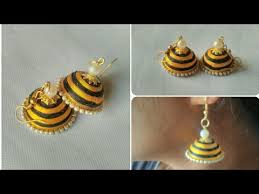 home made earrings how make silk thread earrings diy multicolour jumkhas