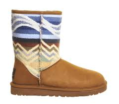 ugg pendleton boots in brown lyst