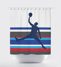 Grey And White Striped Shower Curtain Custom Striped Basketball Themed Shower Curtain For Boys U2013 Shop