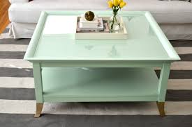 Refinishing Coffee Table Ideas by Mint Coffee Table With Gold Feet A Makeover Little Bits Of