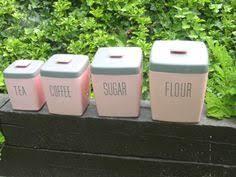 vintage kromex canister u0027s complete set matches pink kitchenaid