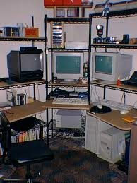 Wire Shelving Desk My Desk Is My Entertainment Center U2026and Vice Versa Replace